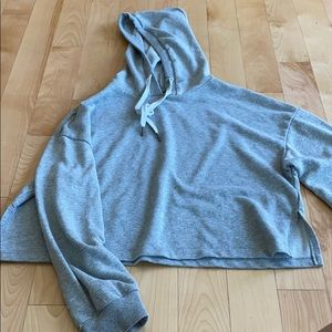 Gray Crop Sweatshirt
